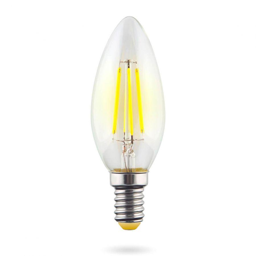 Лампа светодиодная E14 6W 2800К прозрачная VG10-C1E14warm6W-F 7019