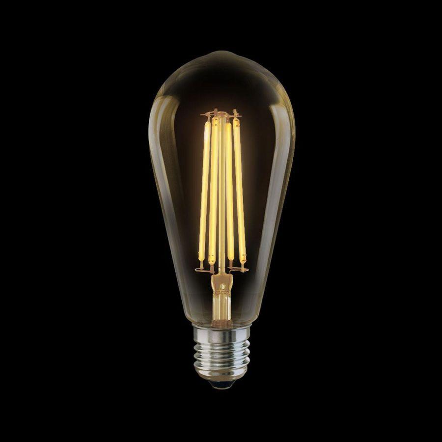 Лампа светодиодная филаментная Voltega E27 6W 2800К золотая VG10-ST64Gwarm6W 5526