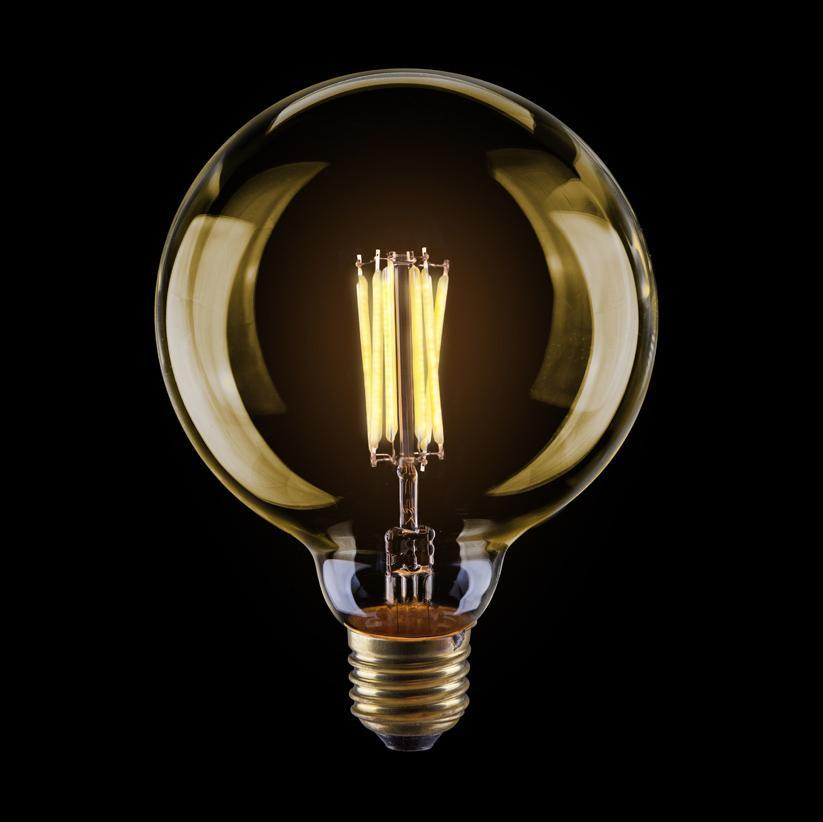 Лампа светодиодная филаментная диммируемая Voltega E27 8W 2800К золотая VG10-G125Gwarm8W 6838