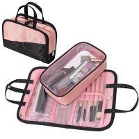 Дорожная косметичка со съёмным отделением Travel Bag, цвет Чёрно-розовый (8)