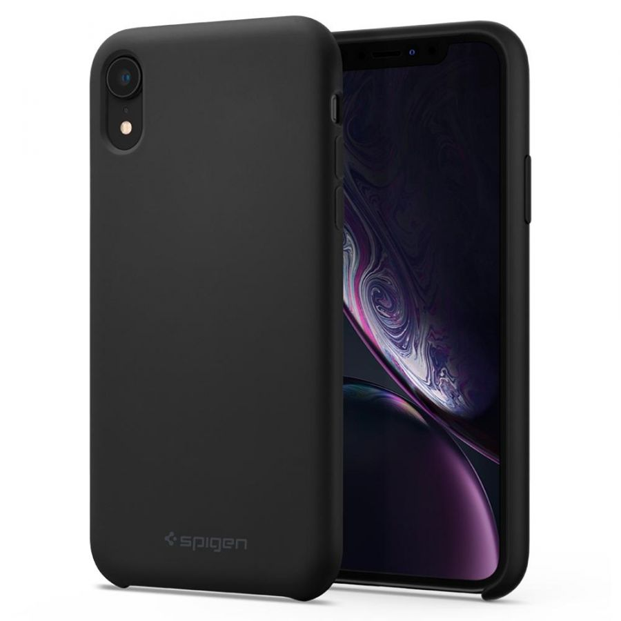 Чехол Spigen Silicone Fit для iPhone XR черный