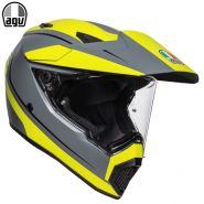 Шлем AGV AX-9 Pacific Road, Жёлто-серый матовый