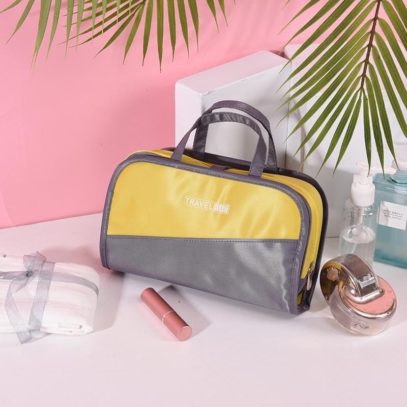 Дорожная косметичка со съёмным отделением Travel Bag, Цвет Серо- Желтый