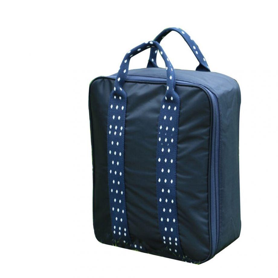 Складная дорожная сумка для путешествий с плечевым ремнём, 28х13х36 см, Цвет Синий