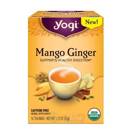 Yogi Tea Mango Ginger Органический чай Манго Имбирь, 16 пакетиков