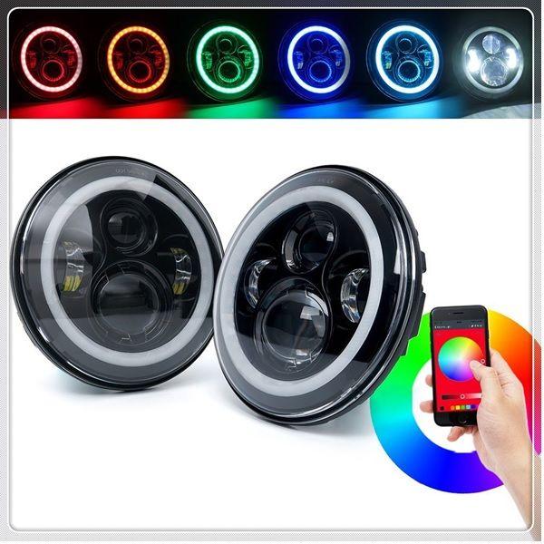 Светодиодные фары MainRGB-65W Black (Bluetooth)