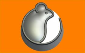 Форма для мыла и шоколада Инь-Мышь-Янь
