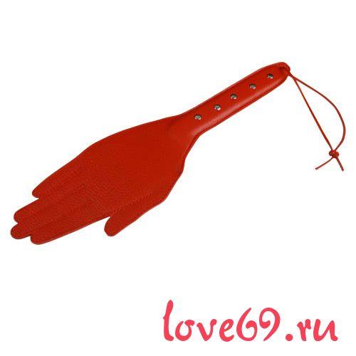 Красная хлопалка-ладошка - 35 см.