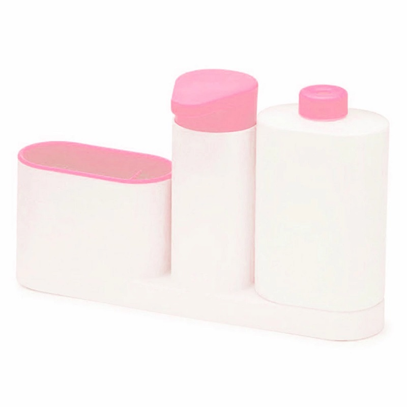 Органайзер Для Раковины SINK TIDY SEY, 3 Предмета, Цвет Розовый
