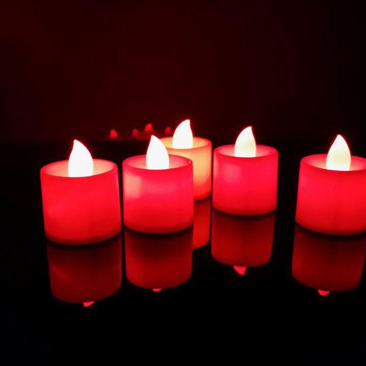 Светодиодный фонарик в форме свечи, цвет красный
