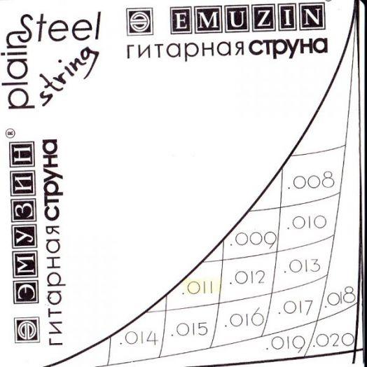 EMUZIN 012с Струна без обмотки диаметром .012/сталь/