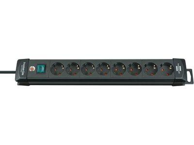 Удлинитель Brennenstuhl Premium-Line с выключателем, 8 розеток; 3 метра, черный, кабель H05VV-F 3G1,5 (1951180100)