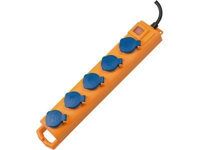 Удлинитель Brennenstuhl Super-Solid SL 554 DE, 5 розеток; IP54, 2 метра; кабель H07RN-F3G1.5 (1159900205)