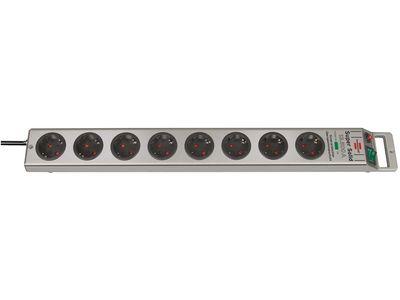 Сетевой фильтр Brennenstuhl Super-Solid 13.500 А; 8 розеток; 2,5 метра; серый, кабель H05VV-F 3G1,5 (1153340318)