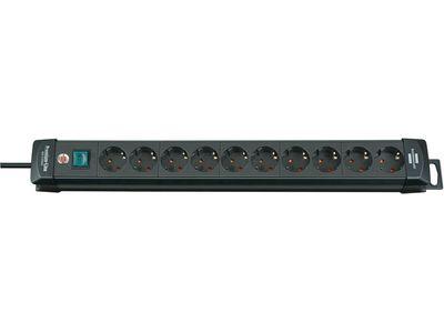 Удлинитель Brennenstuhl Premium-Line с выключателем, 10 розеток; 3 метра, черный, кабель H05VV-F 3G1,5 (1951100110)