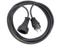 Удлинитель Brennenstuhl 2 метра; кабель H05VV-F 3G1,5; черный, 1 розетка (1165010015)