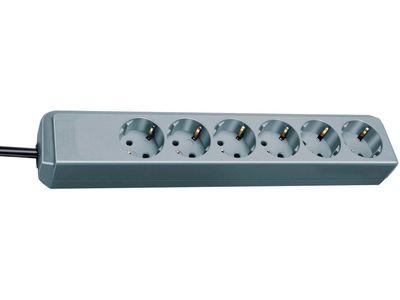 Удлинитель Brennenstuhl Eco-Line 6 розеток; 1,5 метра, кабель H05VV-F 3G1,5; серебристый (1159440015)