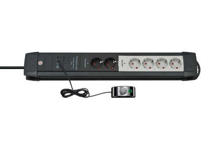 Удлинитель Brennenstuhl Premium-Line Comfort Switch Plus с пультом; розетки 4 отключаемые + 2 постоянные, 3 метра (1156050071)