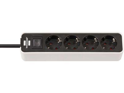Удлинитель Brennenstuhl Ecolor 4 розетки, 1,5 метра, с выключателем, кабель H05VV-F 3G1,5; белый-черный (1153240020)
