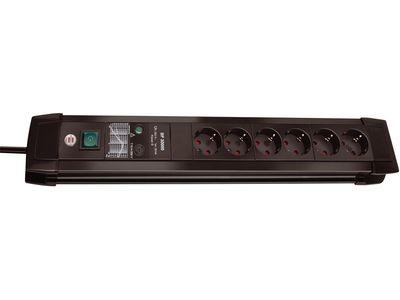 Сетевой фильтр Brennenstuhl Premium-Line 30000 А, 6 розеток, 3 метра, черный, кабель H05VV-F 3G1,5 (1156000396)