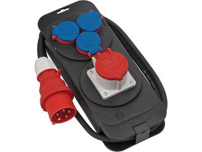 Распределительное устройство Brennenstuhl, штекер 400В/16A; розетки 1x400В/16A+3x 230В/16A, кабель H07RN-F 5G1,5; IP44 (1151600)