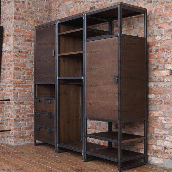 Шкаф трехдверный Loft №2 (170х60х180)