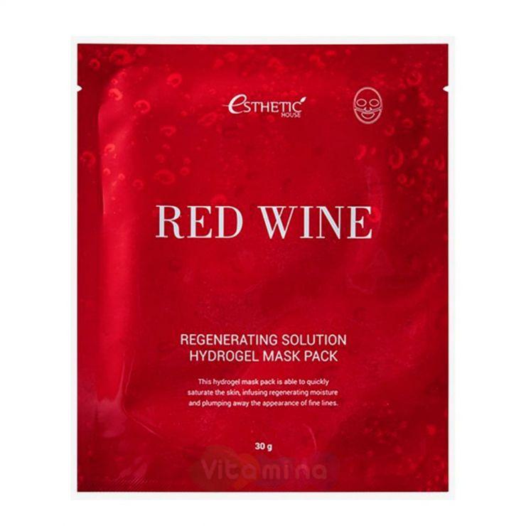 Esthetic House Гидрогелевая маска с экстрактом красного вина Red Wine Regenerating Solution Hydrogel Mask Pack