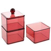 Акриловый контейнер для хранения мелочей Multi-Functional Storage Box, модель 3124, цвет бордовый (4)