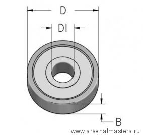 Подшипник D 19,05 d 6,35 B 4 WPW B190063