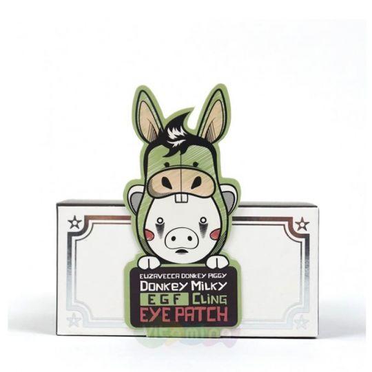 Elizavecca Патчи для глаз с молоком ослиц Donkey Piggy Milky EGF Сling Eye Patch, 60 шт
