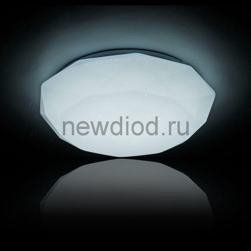 Управляемый светодиодный светильник ALMAZ 629 60Вт-15м² 550мм 6/3/4000K пульт Oreol