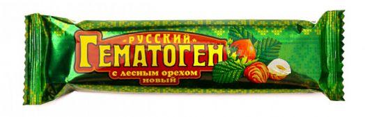 Гематоген Русский новый с лесным орехом 40г