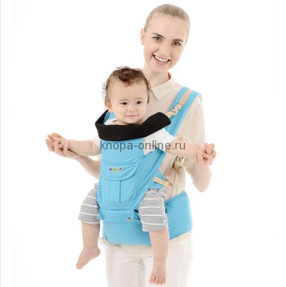 Кенгуру-рюкзак Hipseat с сидением - голубой