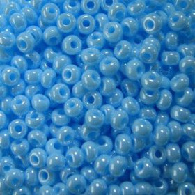 Бисер чешский 68000 голубой непрозрачный Preciosa 1 сорт