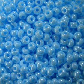 Бисер чешский 68000 голубой непрозрачный блестящий Preciosa 1 сорт купить оптом