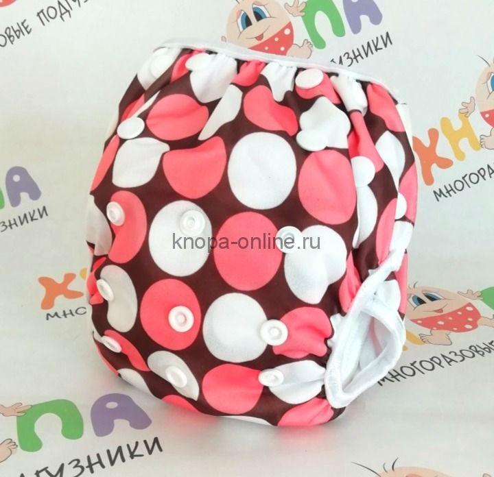 Подгузник для плавания, 0-3 года - Розовые шарики