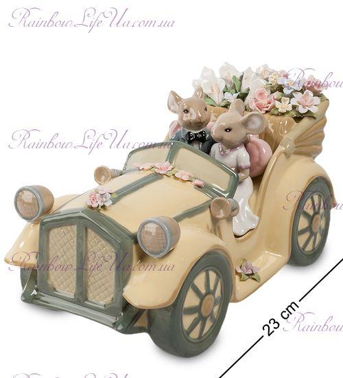 """Статуэтка муз. мышки свадебная пара """"Pavone"""""""