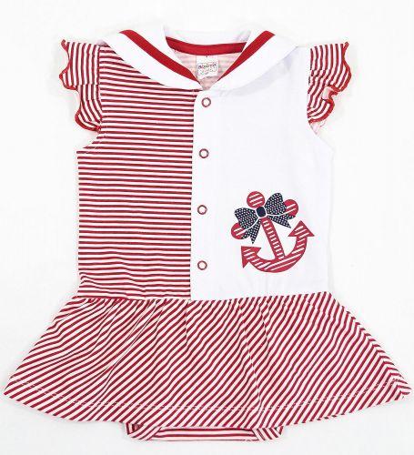 Боди-платье для новорожденных Bonito красное с якорем