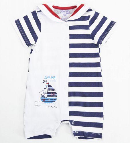 Полукомбинезон для новорожденного мальчика Bonito с корабликом