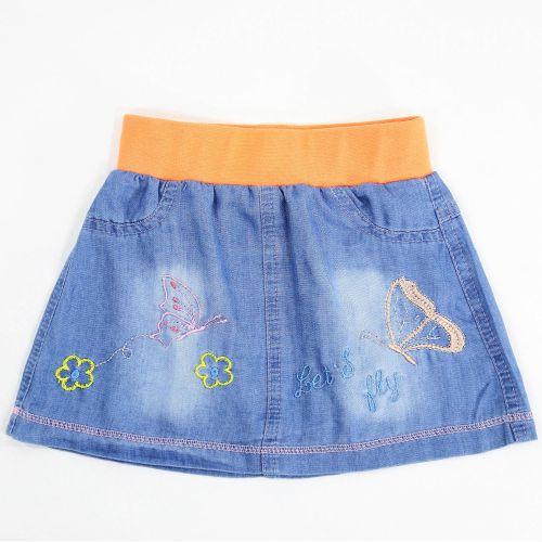 Джинсовая юбка для девочек 2-5 лет Bonito Jeans оранжевый