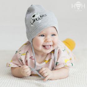 HOH ШНВ19-06273238 Однослойная шапка с завязками Пират, серый