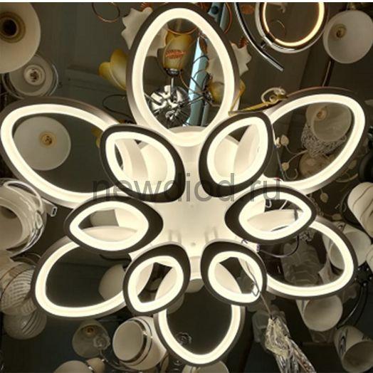 Управляемый светодиодный светильник Futuro 8033 12 лепестов 200Вт-12000Лм 700мм 6/3/4000K Oreol
