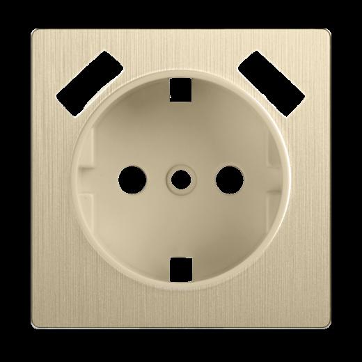 Накладка для USB розетки WL10-USB-CP шампань рифленый