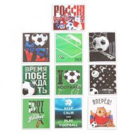 Наклейки стикеры Football, 6 × 7 см, 10 шт