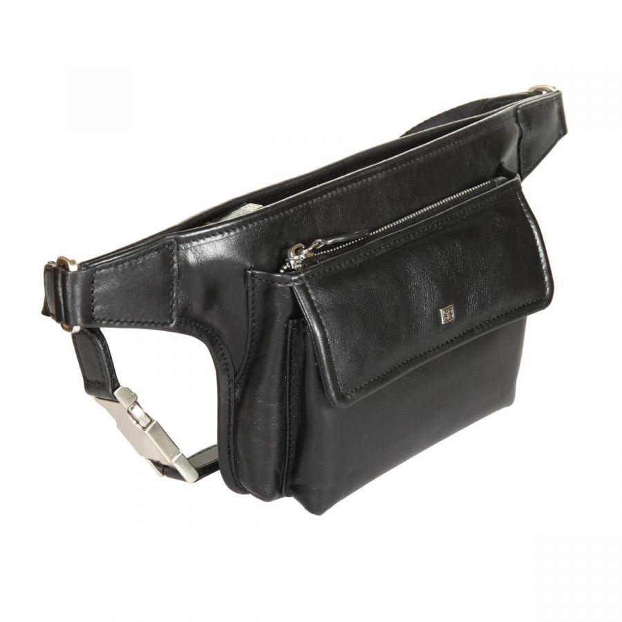 Мужская поясная сумка из натуральной кожи
