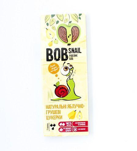 Натуральные конфеты яблочно-грушевые Bob Snail,30 грамм