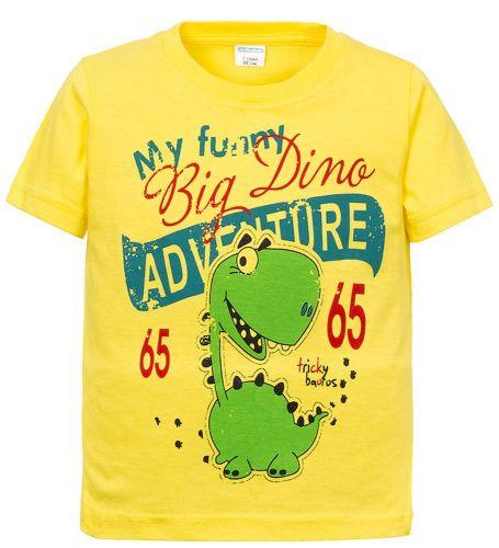 Футболка для мальчиков 2-5 лет Sladikmladik с динозавром