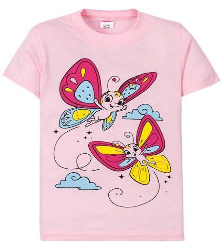 Футболка для девочек 2-5 лет Sladikmladik с бабочками