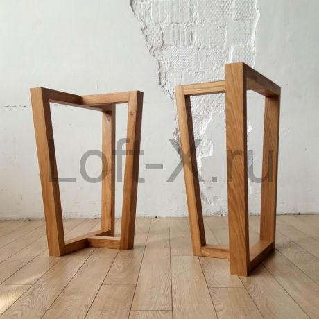 "Опора стола ""Трапеция-Т"" из дубового бруса"