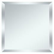 Квадратная зеркальная серебряная матовая плитка с фацетом 10мм КЗСм1-03 25х25